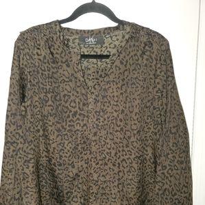 Kardashian Kollection Animal Print blouse